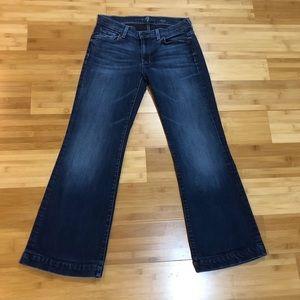 7 For All Mankind Dojo Wide Leg Jeans 27x29